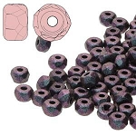2.5 Grams Of 2x3mm Czech Glass Faceted Micro Spacers - Polychrome Mix Berry